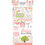 Echo Park - Bundle of Joy New Addition Collection - Girl - Chipboard Stickers