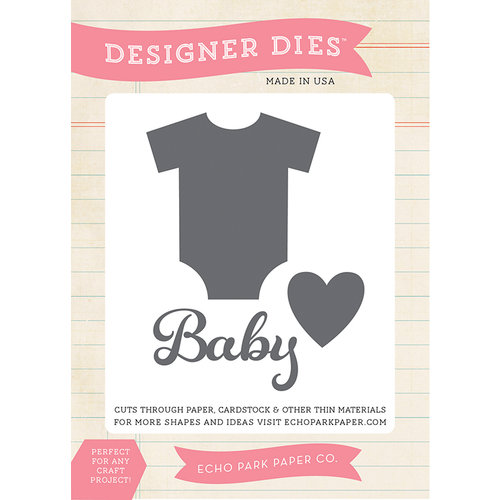 Echo Park - Bundle of Joy New Addition Collection - Girl - Designer Dies - Baby Onsie