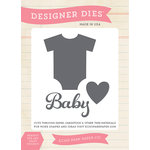 Echo Park - Bundle of Joy New Addition Collection - Girl - Designer Dies - Baby Onesie