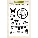 Echo Park - Bundle of Joy New Addition Collection - Girl - Clear Acrylic Stamps - It's A Girl