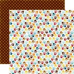 Echo Park - Bark Collection - 12 x 12 Double Sided Paper - Paw Prints