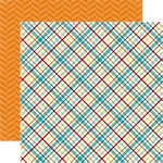 Echo Park - Bark Collection - 12 x 12 Double Sided Paper - Puppy Plaid