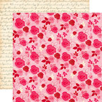 Echo Park - Blowing Kisses Collection - 12 x 12 Double Sided Paper - Multi Floral