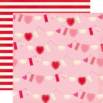 Echo Park - Blowing Kisses Collection - 12 x 12 Double Sided Paper - Valentine Bunting