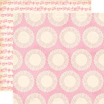 Echo Park - Blowing Kisses Collection - 12 x 12 Double Sided Paper - Paper Doily