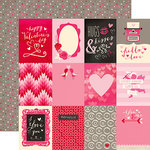 Echo Park - Blowing Kisses Collection - 12 x 12 Double Sided Paper - 3 x 4 Journaling Cards
