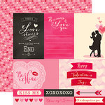Echo Park - Blowing Kisses Collection - 12 x 12 Double Sided Paper - 4 x 6 Journaling Cards
