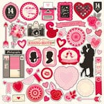 Echo Park - Blowing Kisses Collection - 12 x 12 Cardstock Stickers - Elements