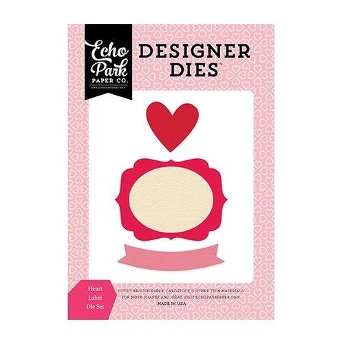 Echo Park - Blowing Kisses Collection - Designer Dies - Heart Label