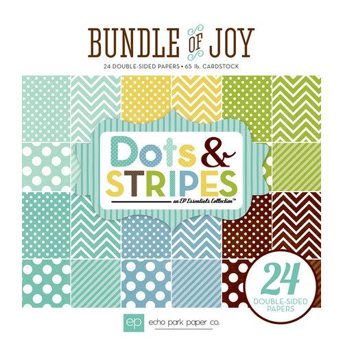 Echo Park - Bundle of Joy Collection - Boy - 6 x 6 Paper Pad - Dots and Stripes