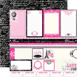 Echo Park - Be Mine Collection - Valentine - 12 x 12 Double Sided Paper - Journal Cards