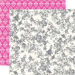 Echo Park - Be Mine Collection - Valentine - 12 x 12 Double Sided Paper - Rose Bouquet