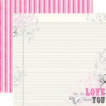 Echo Park - Be Mine Collection - Valentine - 12 x 12 Double Sided Paper - So In LoveÂ…