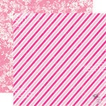 Echo Park - Be Mine Collection - Valentine - 12 x 12 Double Sided Paper - Airmail Stripe