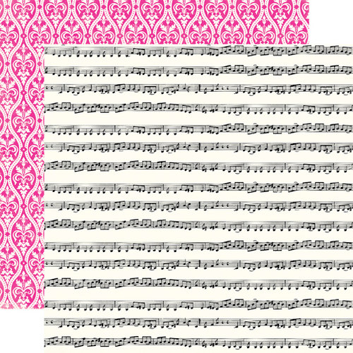Echo Park - Be Mine Collection - Valentine - 12 x 12 Double Sided Paper - Love Song