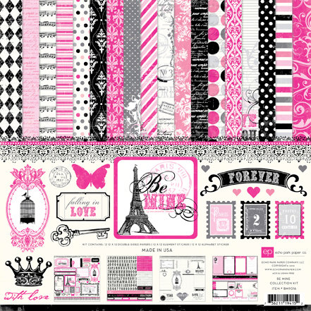 Echo Park - Be Mine Collection - Valentine - 12 x 12 Collection Kit