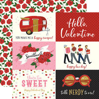 Echo Park - Be My Valentine Collection - 12 x 12 Double Sided Paper - 6 x 4 Journaling Cards