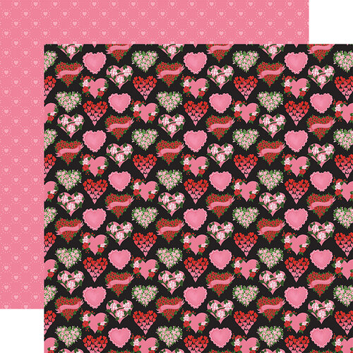 Echo Park - Be My Valentine Collection - 12 x 12 Double Sided Paper - Box of Chocolates