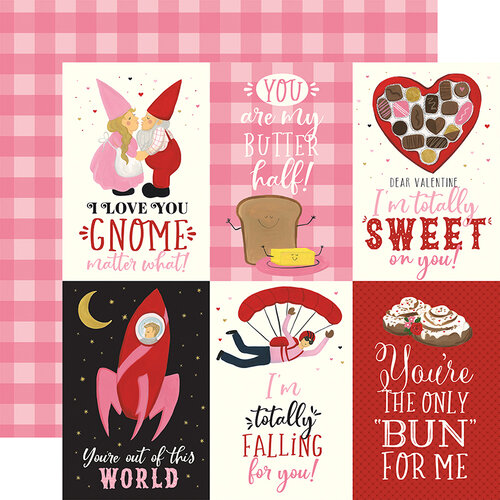 Echo Park - Be My Valentine Collection - 12 x 12 Double Sided Paper - 4 x 6 Journaling Cards