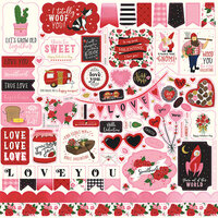 Echo Park - Be My Valentine Collection - 12 x 12 Cardstock Stickers - Elements