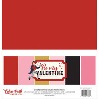 Echo Park - Be My Valentine Collection - 12 x 12 Paper Pack Solids