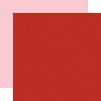 Echo Park - Be My Valentine Collection - 12 x 12 Double Sided Paper - Red