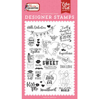 Echo Park - Be My Valentine Collection - Clear Photopolymer Stamps - Hello Valentine