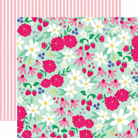 Echo Park - Best Summer Ever Collection - 12 x 12 Double Sided Paper - Sunshine Floral