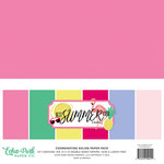 Echo Park - Best Summer Ever Collection - 12 x 12 Paper Pack - Solids