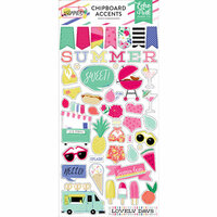 Echo Park - Best Summer Ever Collection - Chipboard Stickers - Accents