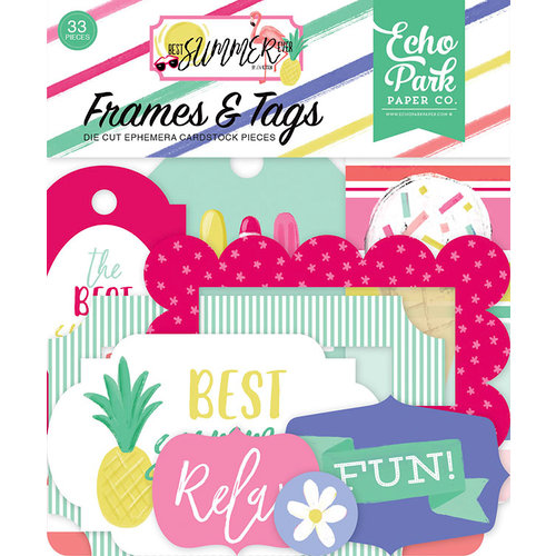Echo Park - Best Summer Ever Collection - Ephemera - Frames and Tags