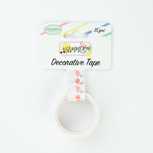 Echo Park - Best Summer Ever Collection - Decorative Tape - Flamingo Fun