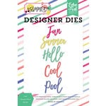 Echo Park - Best Summer Ever Collection - Designer Dies - Cool Summer Word