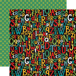Echo Park - Back to School Collection - 12 x 12 Double Sided Paper - Alphabet Scramble