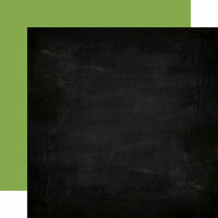 Echo Park - Back to School Collection - 12 x 12 Double Sided Paper - Chalkboard