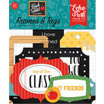 Echo Park - Back to School Collection - Ephemera - Frames and Tags