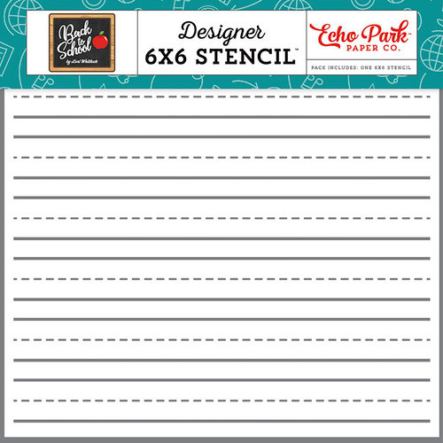 Echo Park - Back to School Collection - 6 x 6 Stencil - Lined Paper