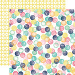 Echo Park - Creative Agenda Collection - 12 x 12 Double Sided Paper - Watercolor Dots