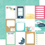 Echo Park - Creative Agenda Collection - 12 x 12 Double Sided Paper - 3 x 4 Journaling Cards