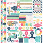 Echo Park - Creative Agenda Collection - 12 x 12 Cardstock Stickers - Elements
