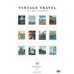 Echo Park - Wall Calendar - 11 x 17 - Vintage Travel - 2019