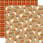 Echo Park - Celebrate Autumn Collection - 12 x 12 Double Sided Paper - Thankful Flowers