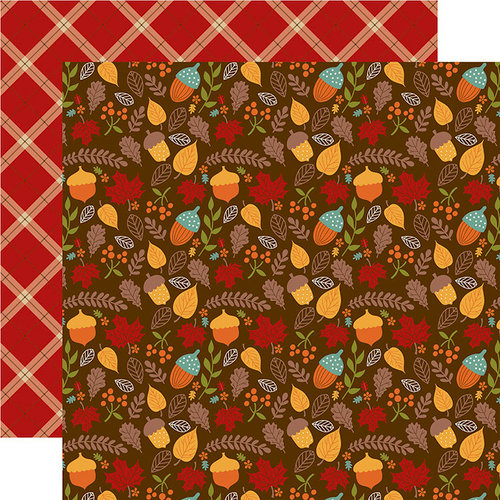 Echo Park - Celebrate Autumn Collection - 12 x 12 Double Sided Paper - Autumn Acorns