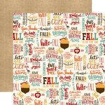 Echo Park - Celebrate Autumn Collection - 12 x 12 Double Sided Paper - Fall Is Fun