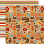 Echo Park - Celebrate Autumn Collection - 12 x 12 Double Sided Paper - Pumpkin Farm