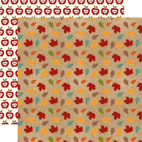 Echo Park - Celebrate Autumn Collection - 12 x 12 Double Sided Paper - Colored Leaves