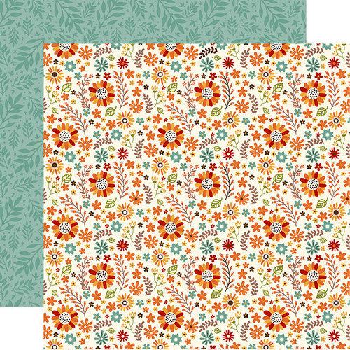Echo Park - Celebrate Autumn Collection - 12 x 12 Double Sided Paper - Autumn Floral