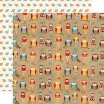 Echo Park - Celebrate Autumn Collection - 12 x 12 Double Sided Paper - Fall Owls