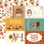 Echo Park - Celebrate Autumn Collection - 12 x 12 Double Sided Paper - 4 x 6 Journaling Cards