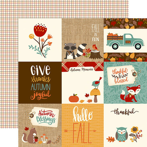 Echo Park - Celebrate Autumn Collection - 12 x 12 Double Sided Paper - 4 x 4 Journaling Cards